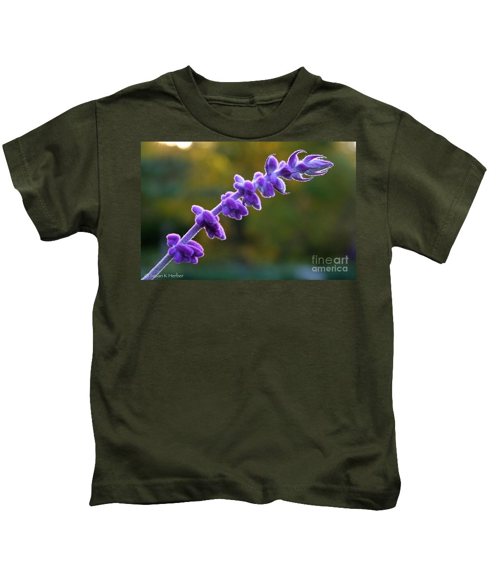 Flower Kids T-Shirt featuring the photograph Late Season Sage by Susan Herber