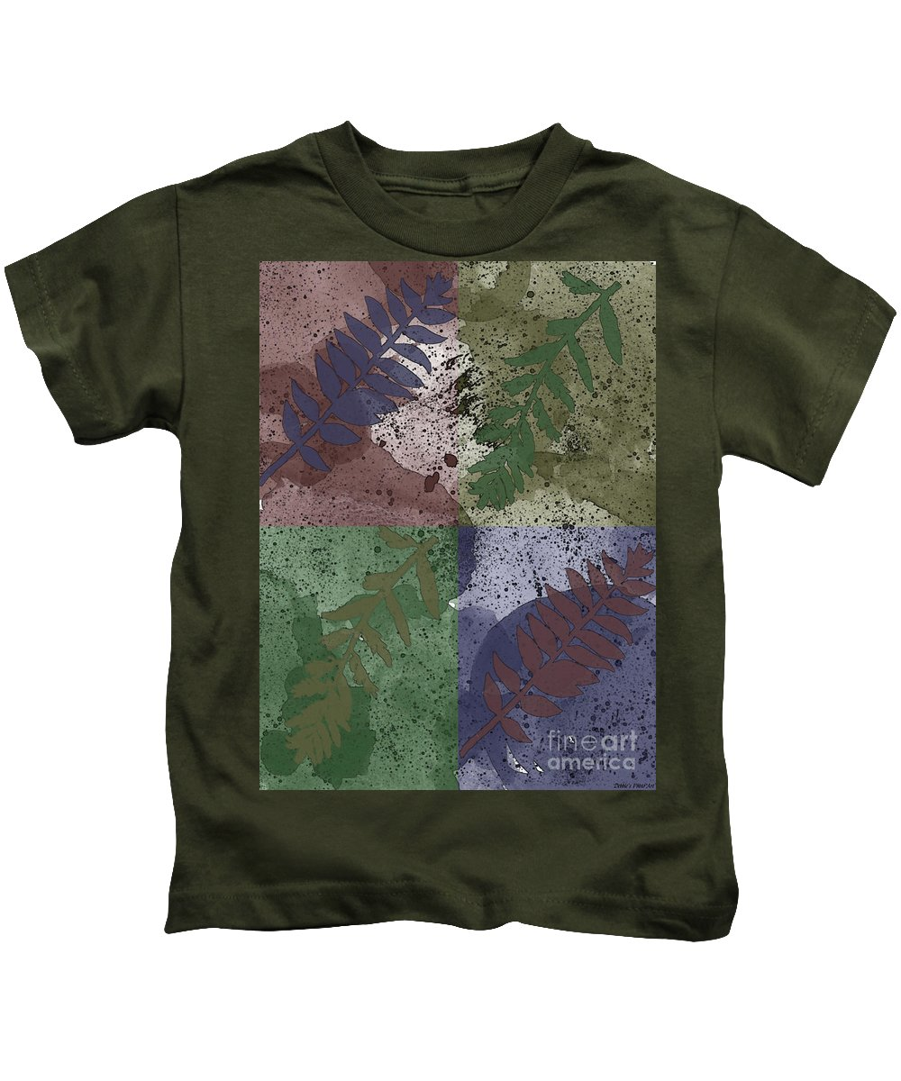 Nature Kids T-Shirt featuring the digital art Leaf Boxes by Debbie Portwood