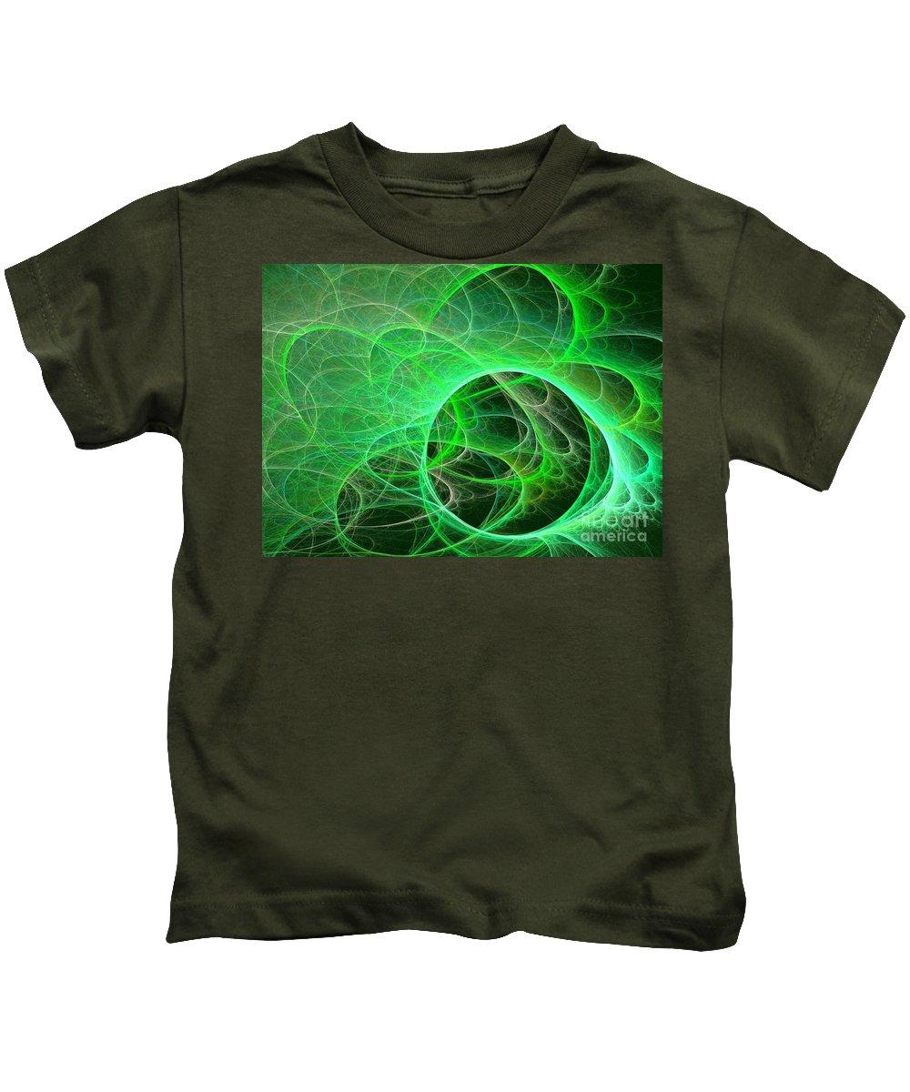 Apophysis Kids T-Shirt featuring the digital art Libra by Kim Sy Ok