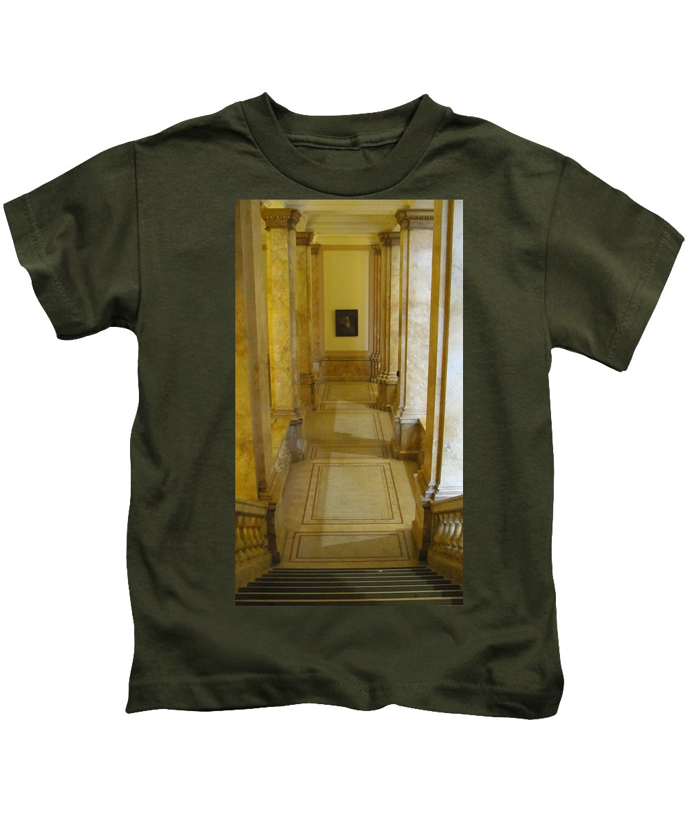 Milwaukee Kids T-Shirt featuring the photograph Library 2 by Anita Burgermeister