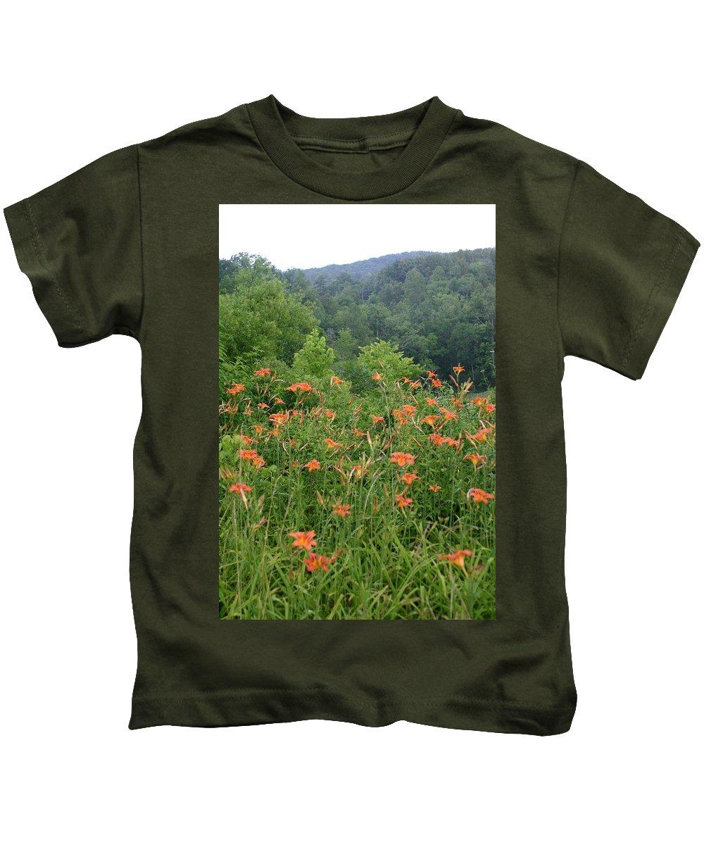 Lillies Kids T-Shirt featuring the photograph Lillies 2 by Leann DeBord