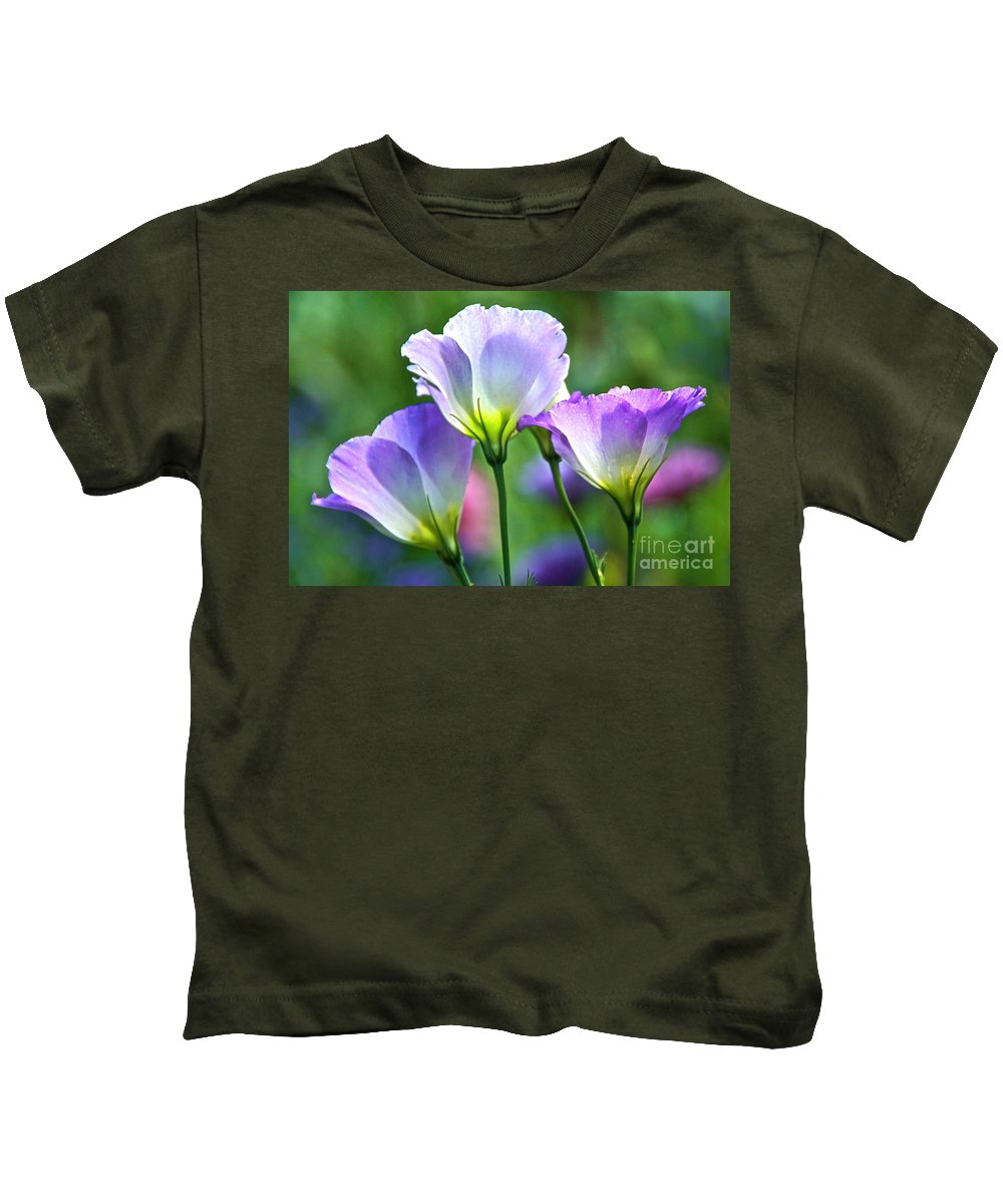 Lisianthus Kids T-Shirt featuring the photograph Lisianthus Number 6 by Byron Varvarigos