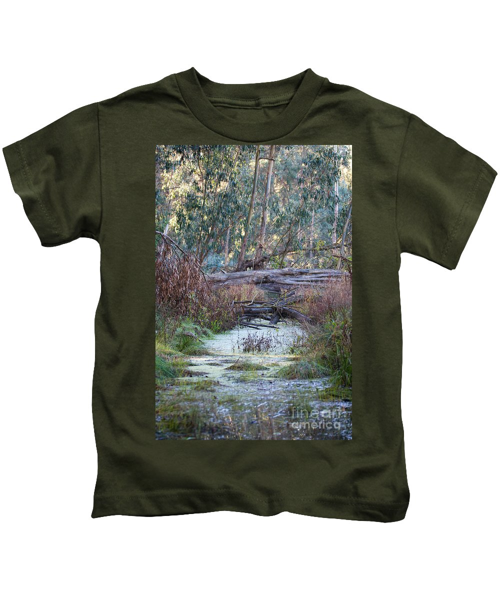 Fine Art Photographs Kids T-Shirt featuring the photograph Little Swampy Creek by Brooke Roby