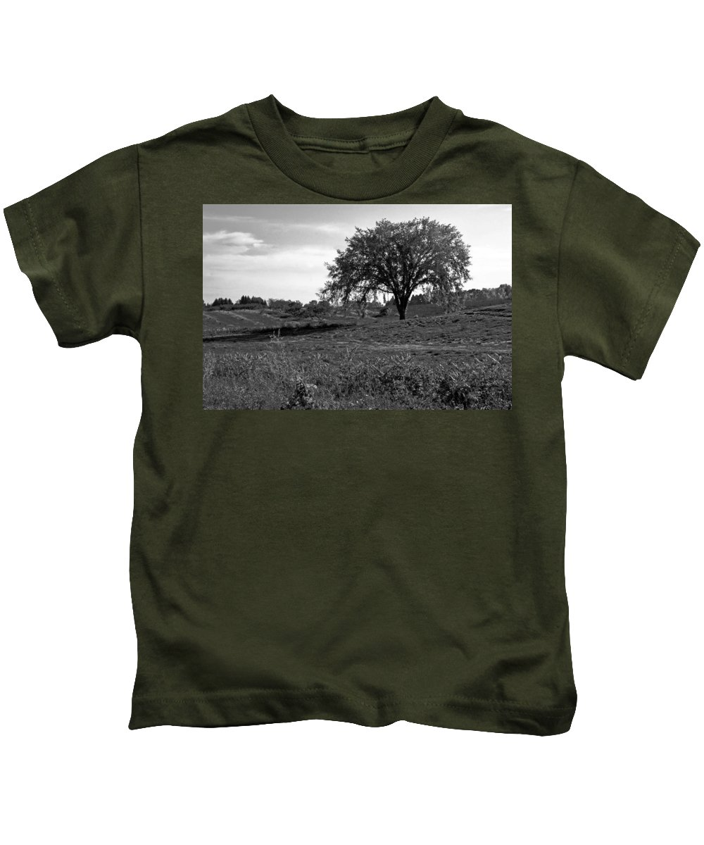 Usa Kids T-Shirt featuring the photograph Lone Tree by LeeAnn McLaneGoetz McLaneGoetzStudioLLCcom