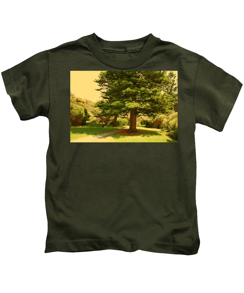 Lovers Kids T-Shirt featuring the photograph Lovers In Spring by Douglas Barnard