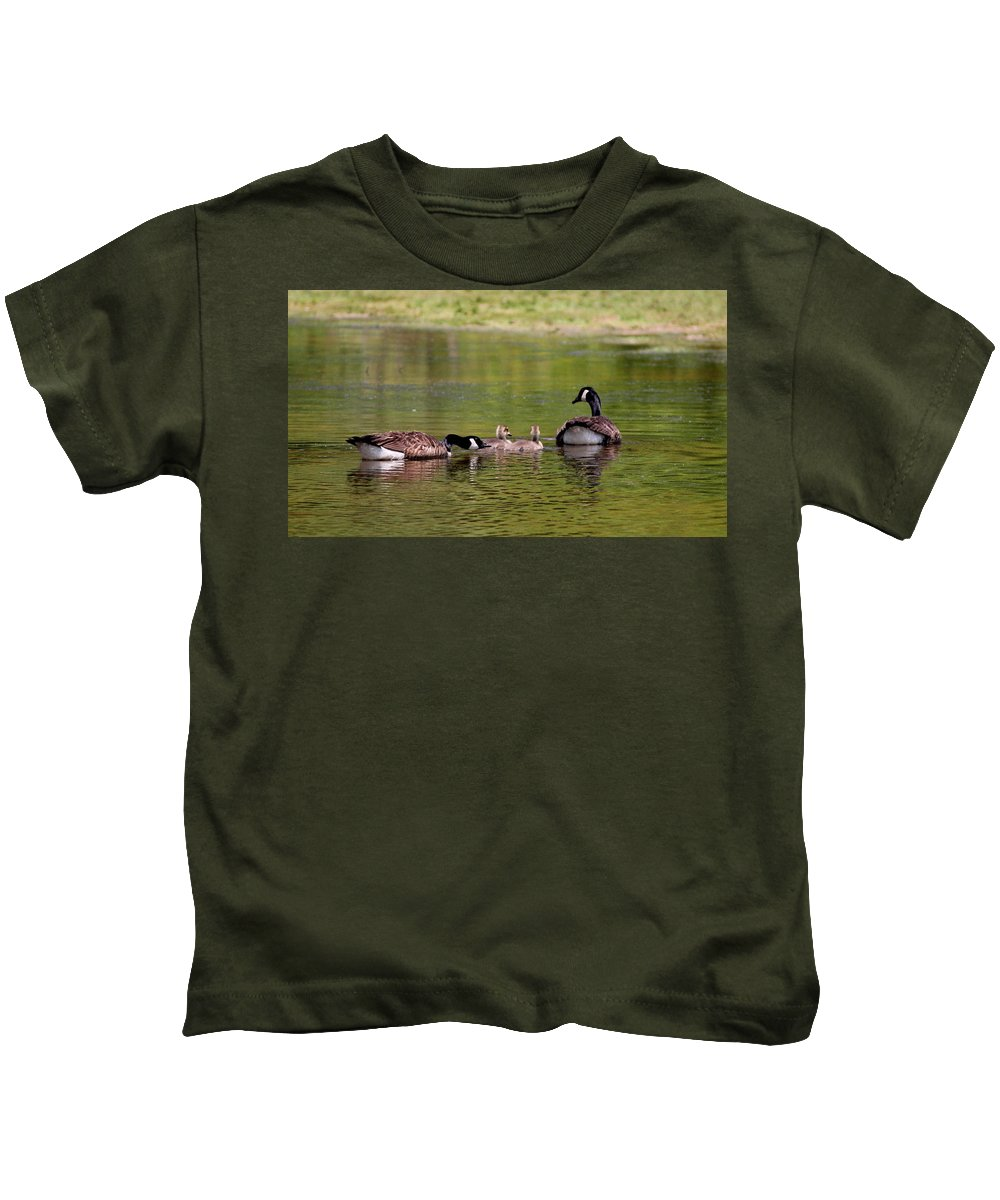 Canada Goose Kids T-Shirt featuring the photograph Loving Parents by Travis Truelove