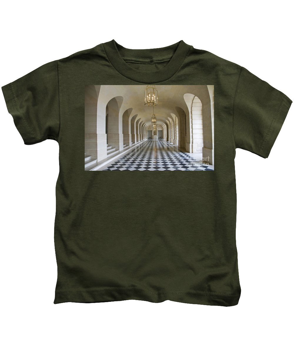Versailles Palace Kids T-Shirt featuring the photograph Lower Gallery Versailles Palace by Sheila Laurens