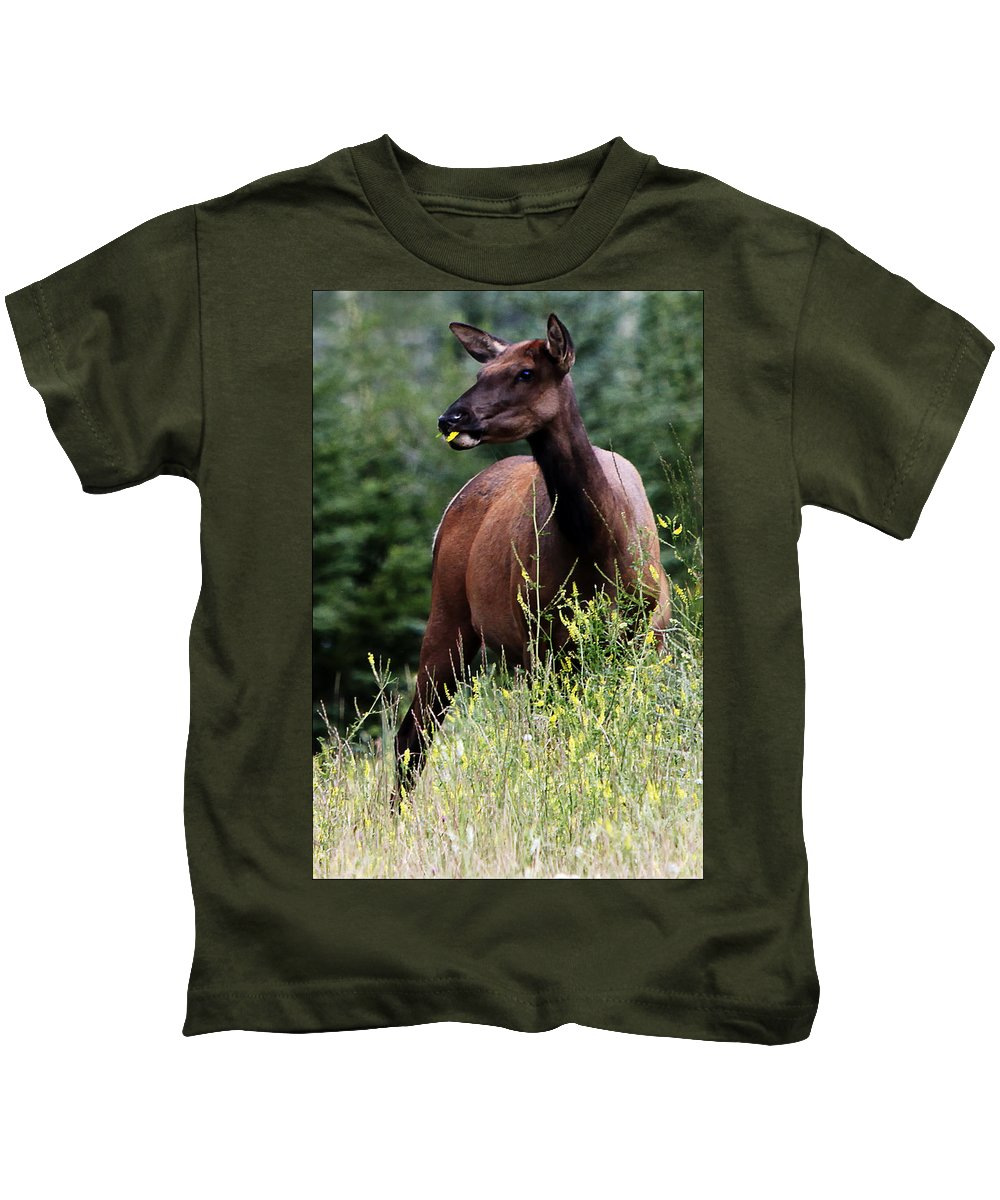 Wild Life Kids T-Shirt featuring the digital art Lunch Time by Diane Dugas