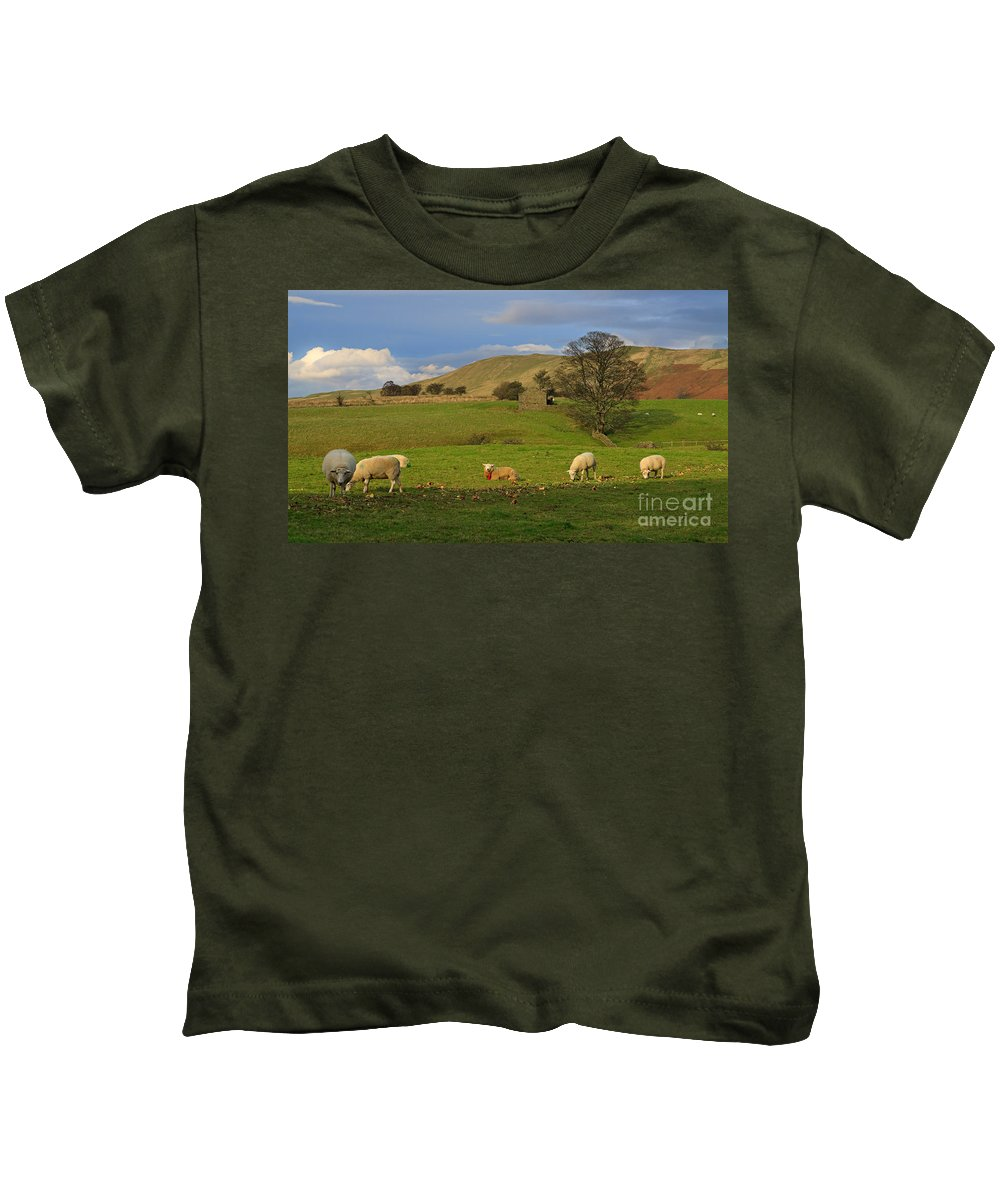 Mallerstang Kids T-Shirt featuring the photograph Mallerstang Dale In Cumbria Uk by Louise Heusinkveld
