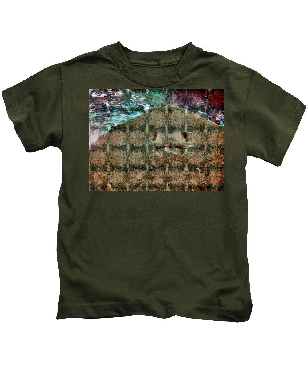 Manta Kids T-Shirt featuring the digital art Manta Ray by Barkley Simpson