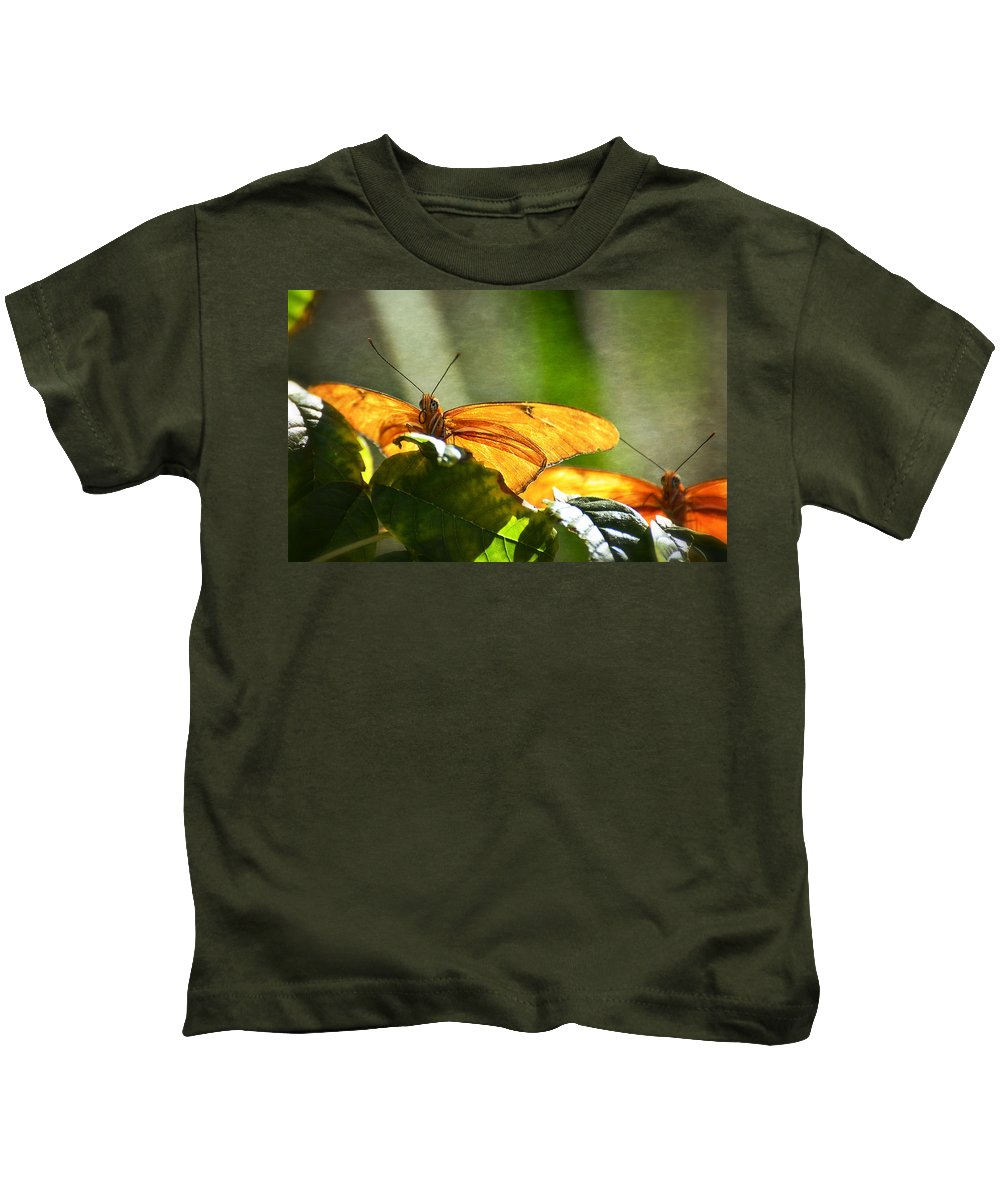Julia Butterfly Kids T-Shirt featuring the photograph Me And My Shadow by Saija Lehtonen