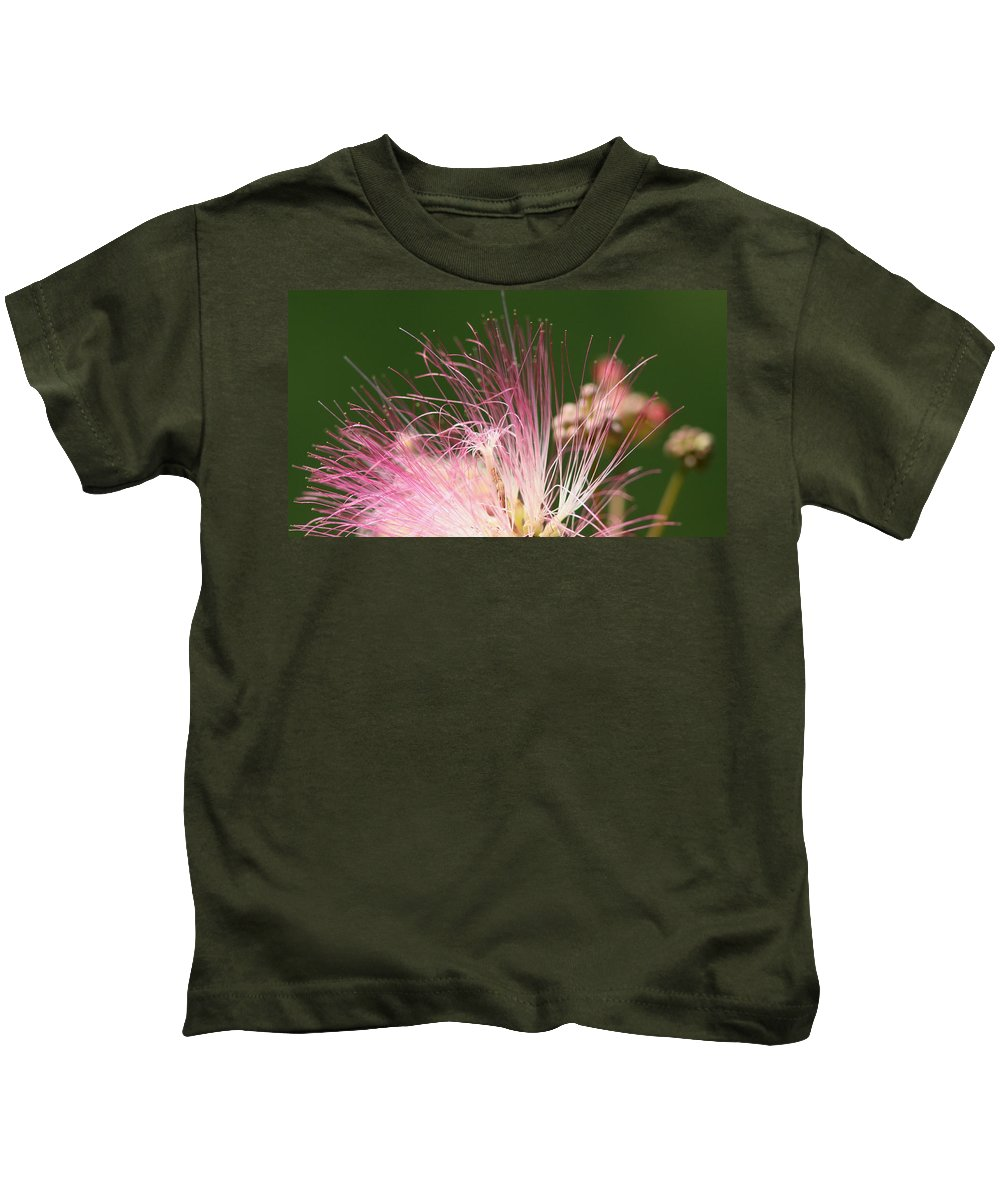 Kids T-Shirt featuring the photograph Mimosa And Worm by Travis Truelove