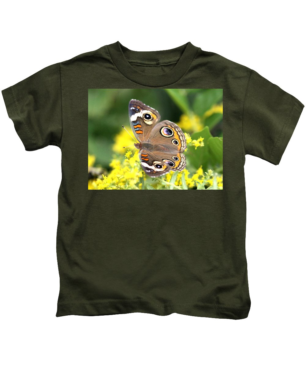 Butterfly Kids T-Shirt featuring the photograph More Eyes Than You by Travis Truelove