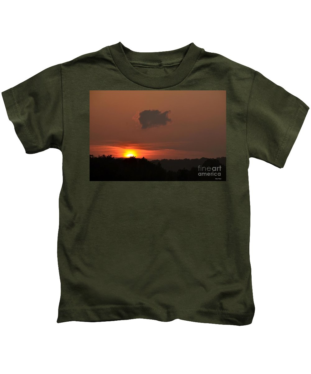 Mountain Kids T-Shirt featuring the photograph Mountain High Sunrise by Maria Urso