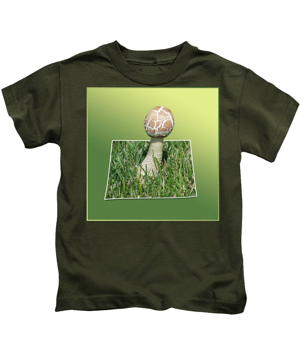 Out Of Bounds Kids T-Shirt featuring the photograph Mushroom 02 by Thomas Woolworth
