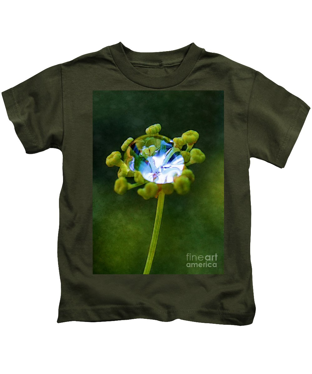 Florets Kids T-Shirt featuring the photograph Nature's Diamond Ring by Judi Bagwell