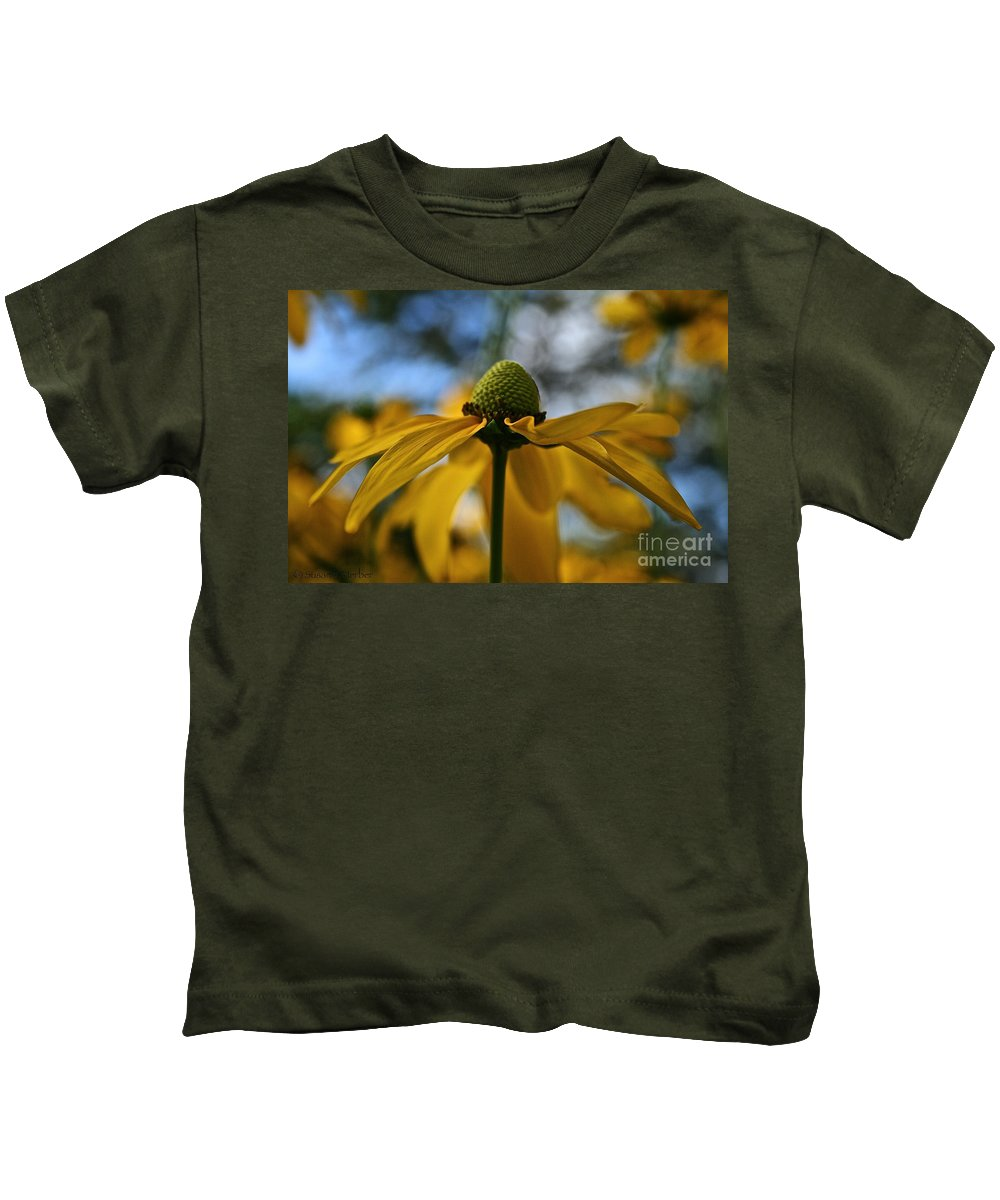Plant Kids T-Shirt featuring the photograph New Cone Flower by Susan Herber