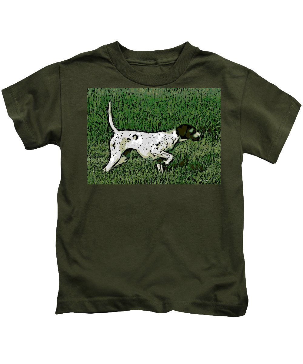 Bird Dog Kids T-Shirt featuring the photograph On Point by George Pedro