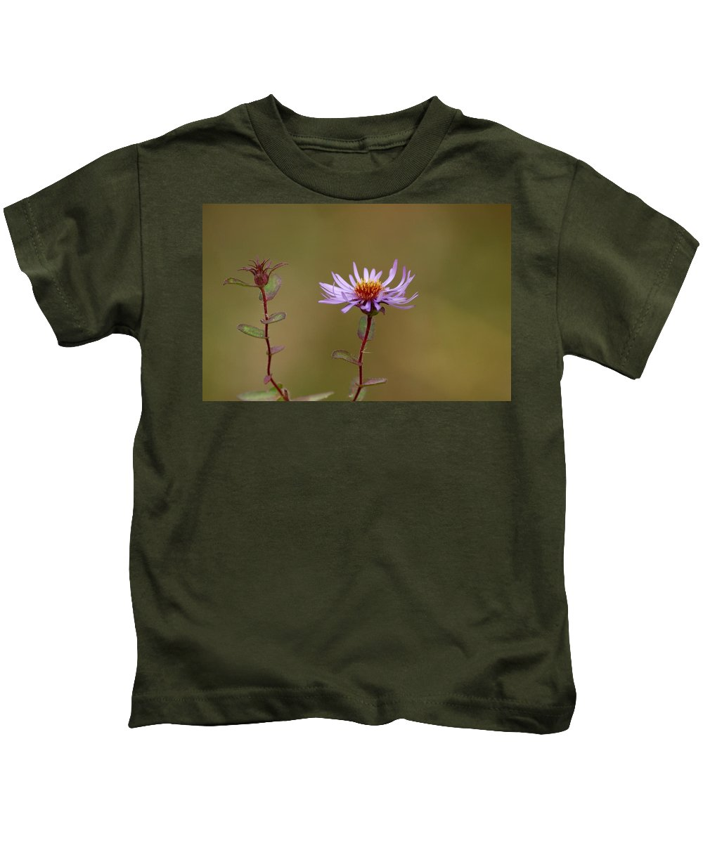 Usa Kids T-Shirt featuring the photograph One Blossom Left by LeeAnn McLaneGoetz McLaneGoetzStudioLLCcom