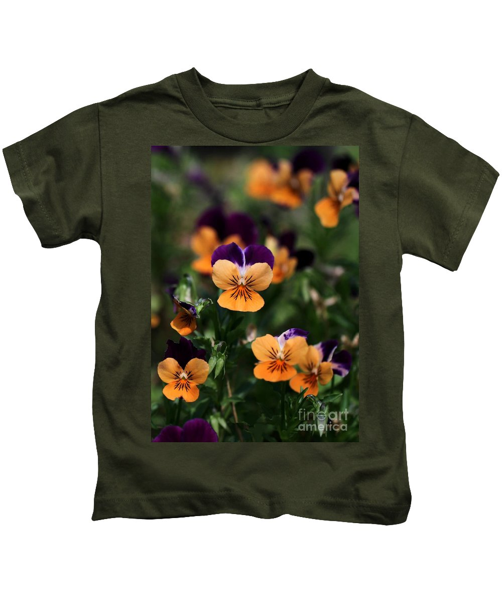 Pansy Kids T-Shirt featuring the photograph Pansy Garden by Sabrina L Ryan