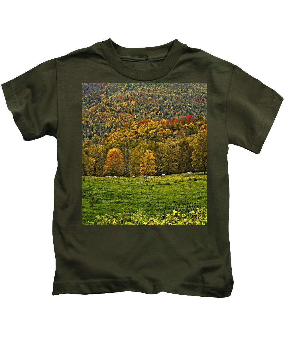 West Virginia Kids T-Shirt featuring the photograph Pastoral Painted by Steve Harrington