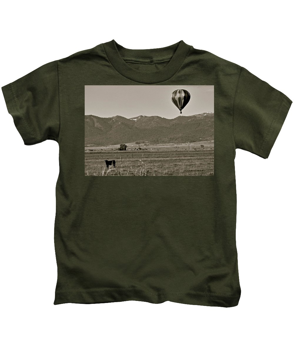 Balloon Kids T-Shirt featuring the photograph Pastoral Surprise by Eric Tressler