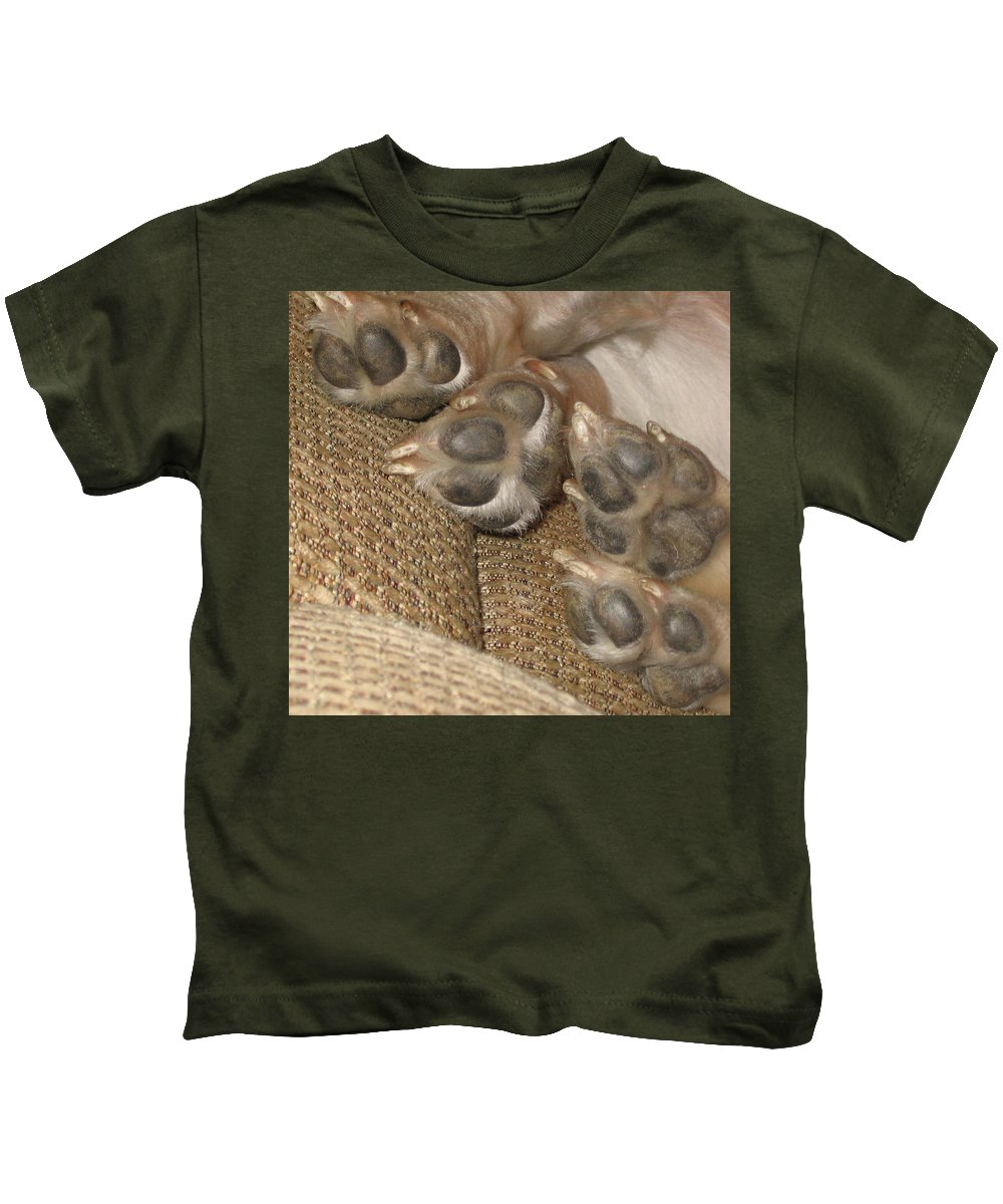 Kids T-Shirt featuring the photograph Paws by Amy Hosp
