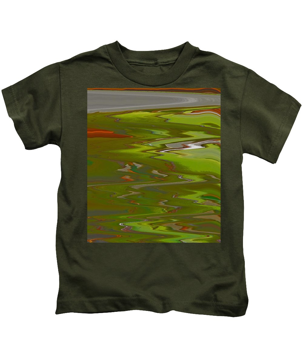 Abstract Kids T-Shirt featuring the digital art Perspective by Lenore Senior