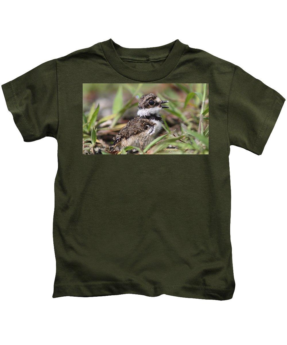 Killdeer Kids T-Shirt featuring the photograph Killdeer Baby - Photo 12 by Travis Truelove