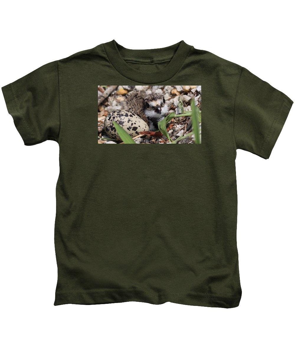 Killdeer Kids T-Shirt featuring the photograph Killdeer Baby - Photo 25 by Travis Truelove