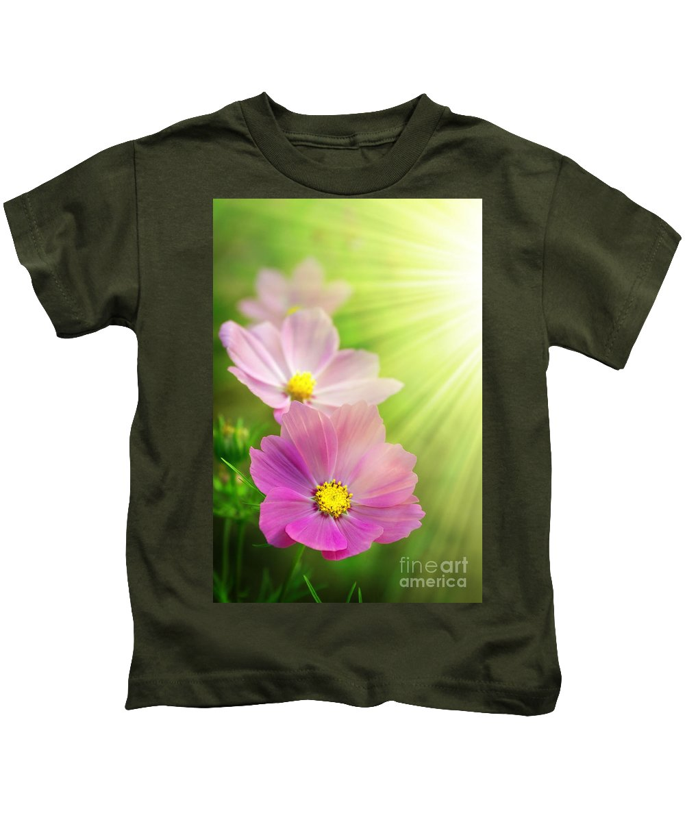 Agriculture Kids T-Shirt featuring the photograph Pink Spring by Carlos Caetano