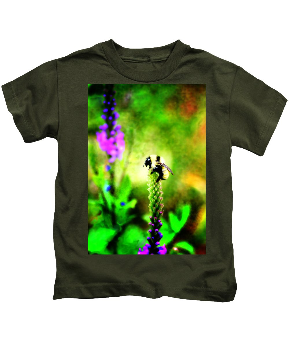 Bee Kids T-Shirt featuring the photograph Pit Stop by Ellen Heaverlo
