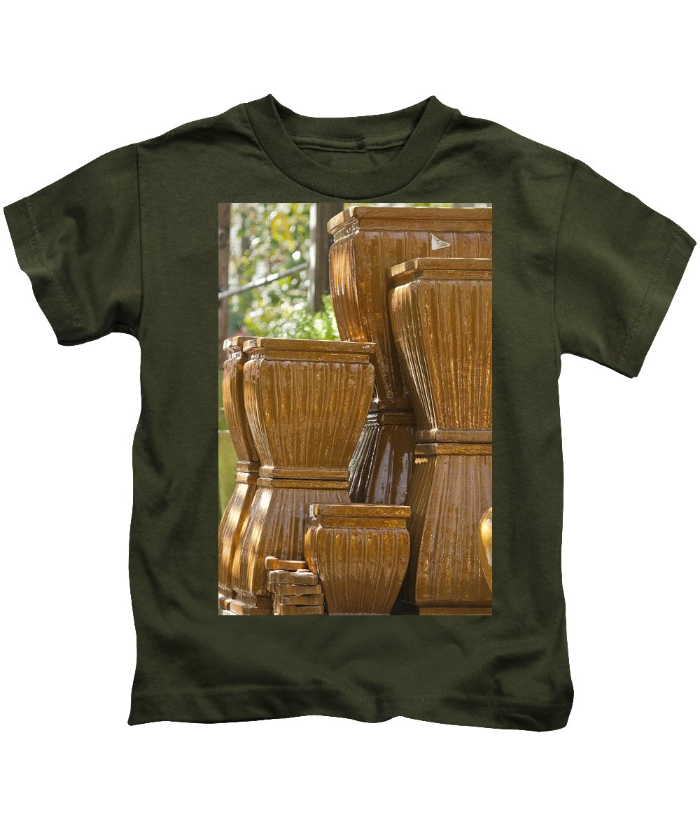 Shape Kids T-Shirt featuring the photograph Pots Of Gold 2 by Teresa Mucha