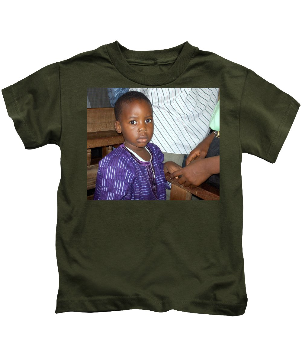 Nigeria Kids T-Shirt featuring the photograph Precious Nigerian Boy by Amy Hosp