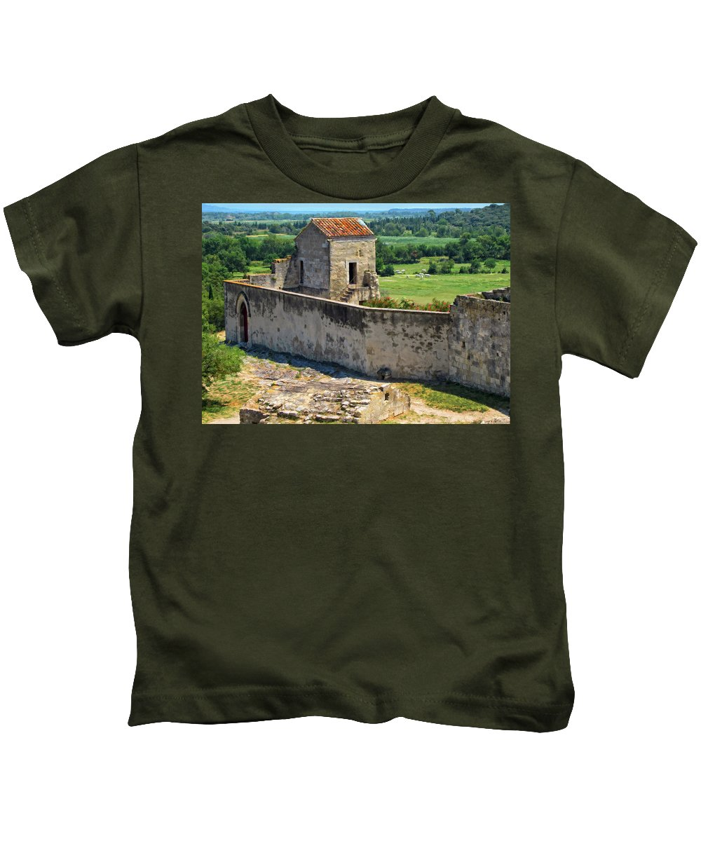 Provence Kids T-Shirt featuring the photograph Provence Countryside by Dave Mills