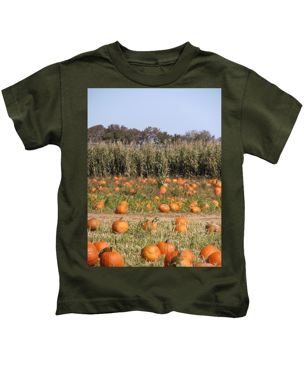 Pumpkin Kids T-Shirt featuring the photograph Pumpkin Patch by Kimberly Perry