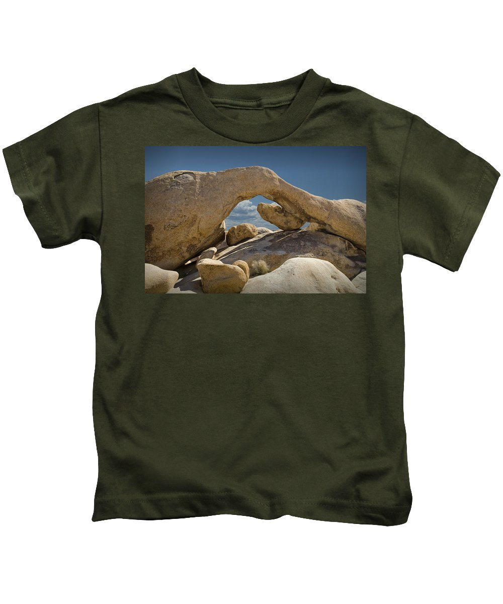 Art Kids T-Shirt featuring the photograph Rock Arch Near Joshua Tree No 0294 by Randall Nyhof