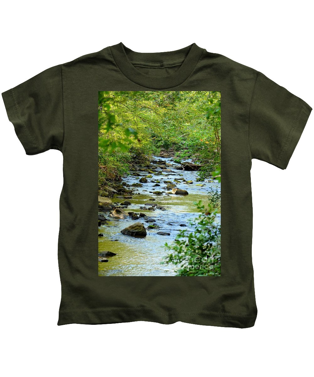 Rock Kids T-Shirt featuring the photograph Rock Creek Bed by Maria Urso