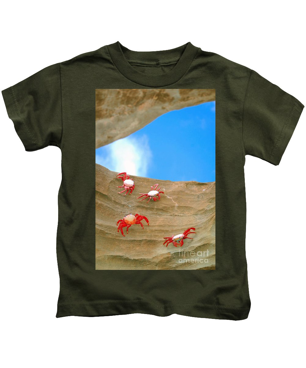 Crabs Kids T-Shirt featuring the photograph Rock Lobster by Anjanette Douglas