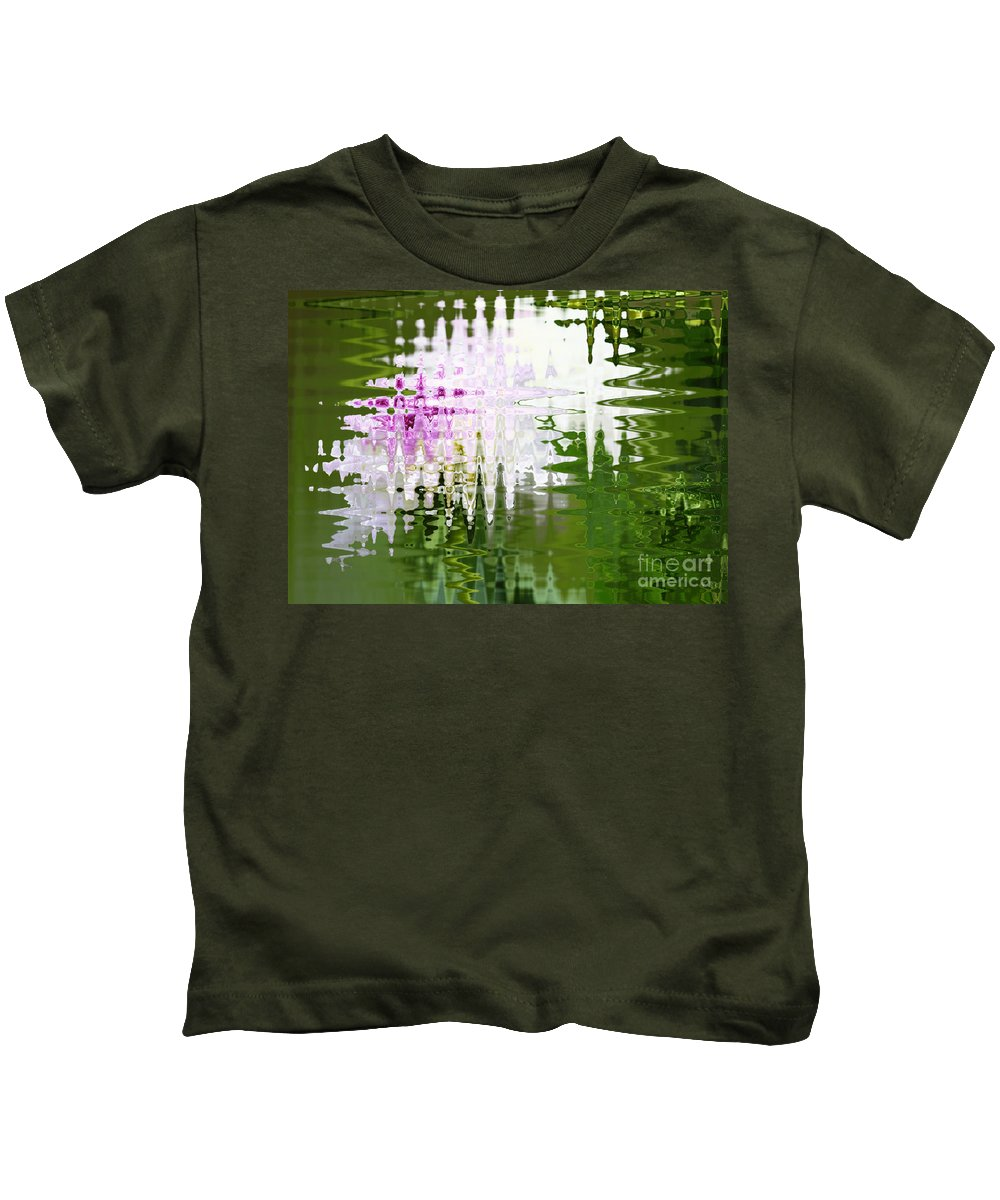 Abstract Kids T-Shirt featuring the photograph Romance In Paris - Abstract Art by Carol Groenen