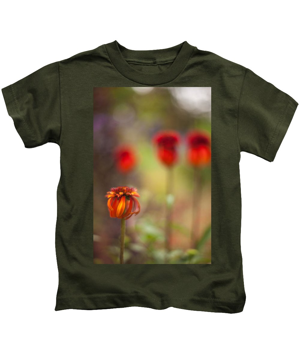 Flower Kids T-Shirt featuring the photograph Rosso Beauties by Mike Reid
