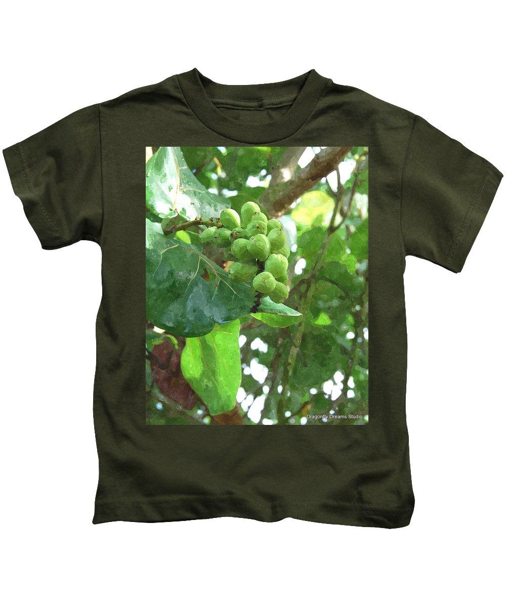 Sea Kids T-Shirt featuring the digital art Sea Grape Sgwc by Jim Brage