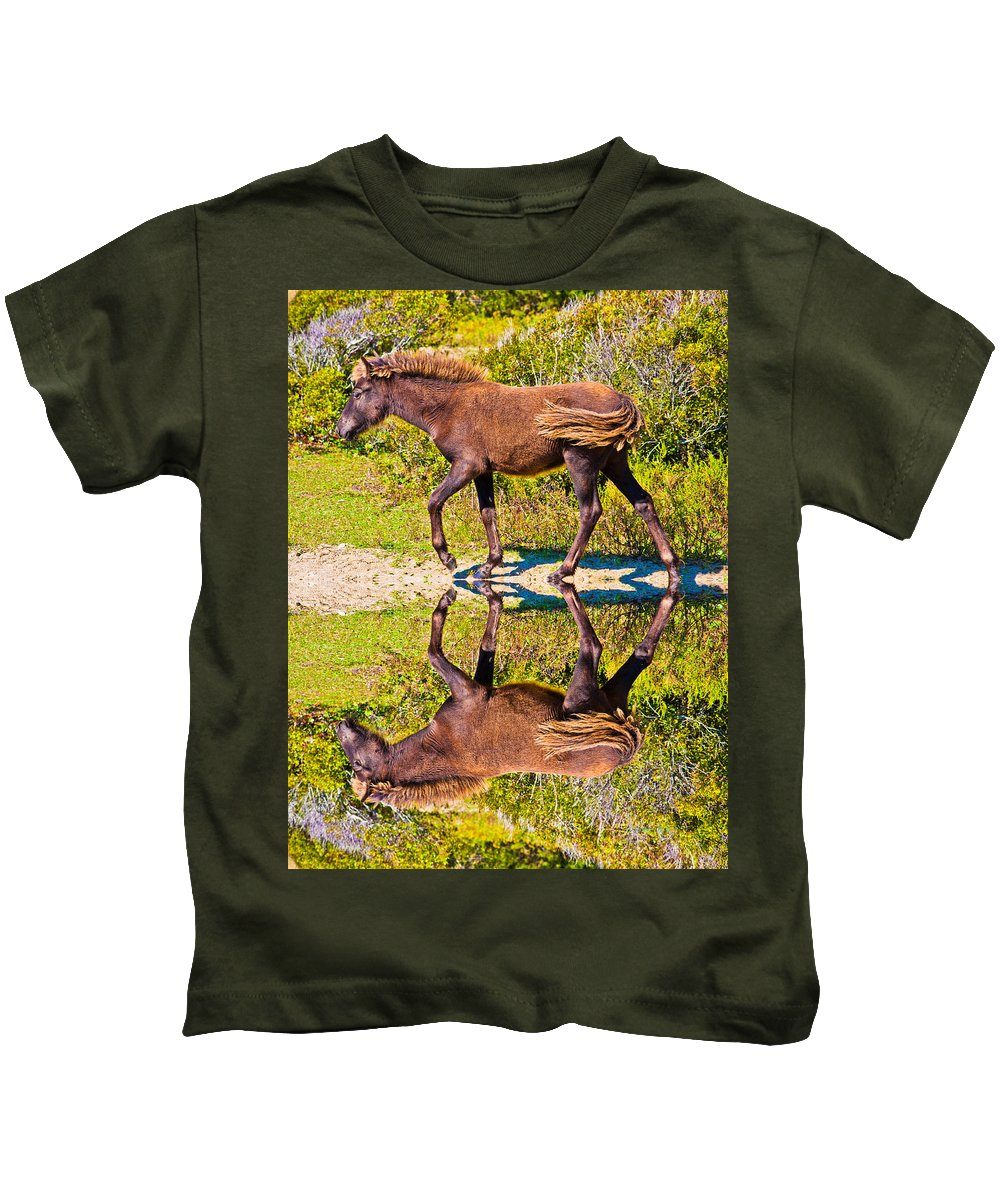 Shackleford Kids T-Shirt featuring the digital art Selena by Betsy Knapp