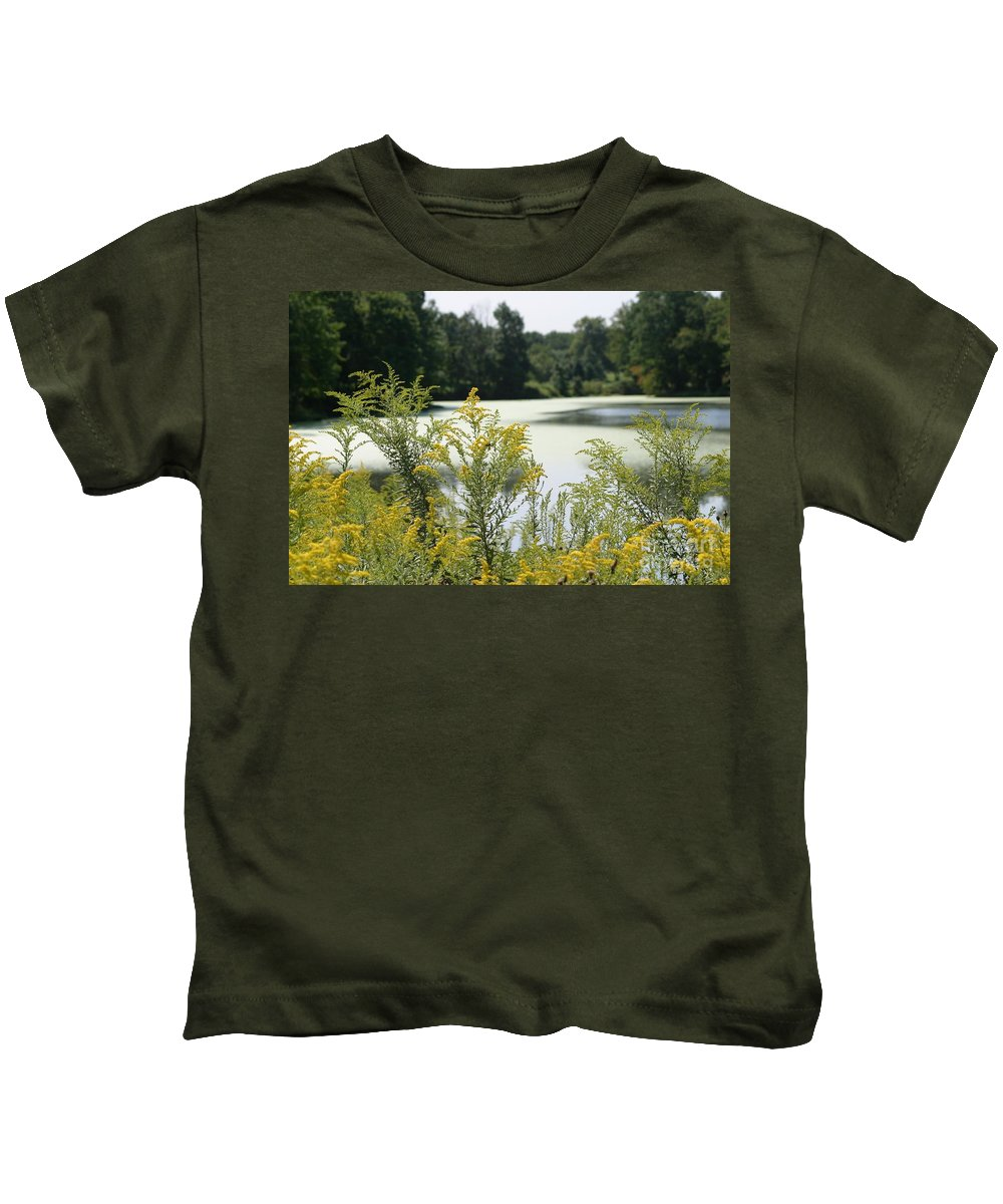 Water Kids T-Shirt featuring the photograph September By The River by Living Color Photography Lorraine Lynch