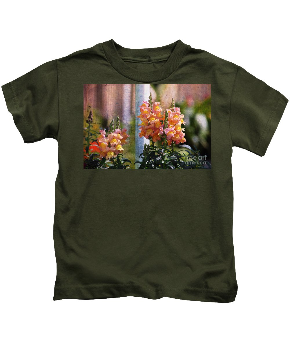 Snapdragons Kids T-Shirt featuring the photograph Snapdragons by Susanne Van Hulst