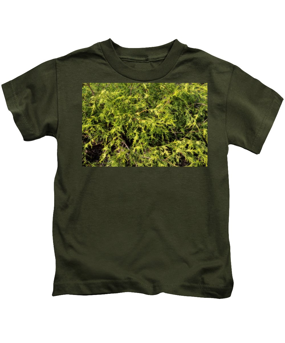 Acrylic Prints Kids T-Shirt featuring the photograph Some Greenery In The Garden By Brenda by John Herzog