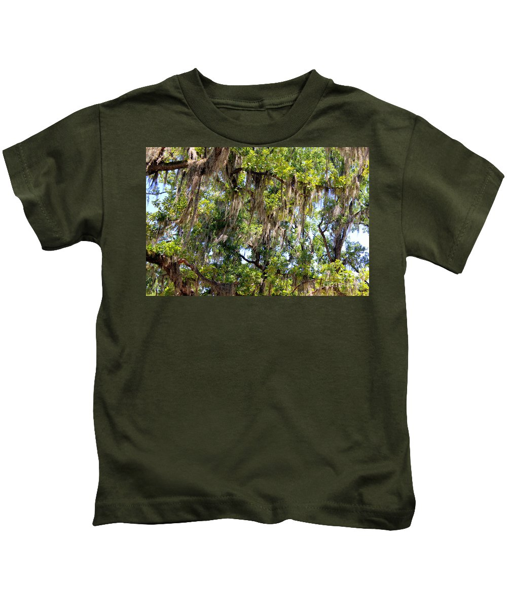 Spanish Moss Kids T-Shirt featuring the photograph Spanish Moss by Kathy White