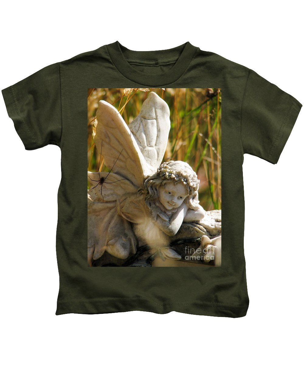 Fairy Kids T-Shirt featuring the photograph Spider Fairy by Rory Sagner