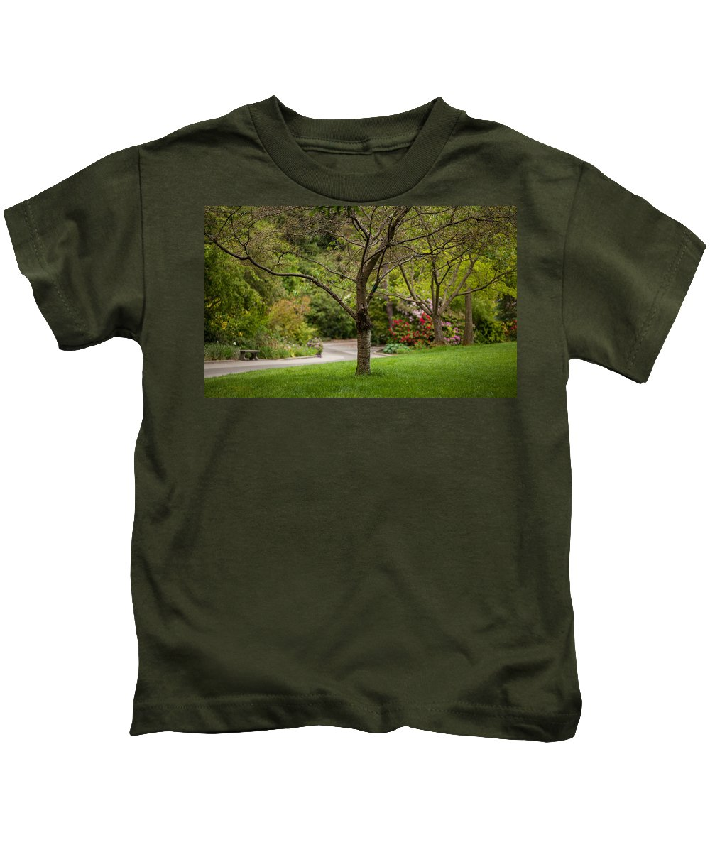 Spring Kids T-Shirt featuring the photograph Spring Garden Landscape by Mike Reid