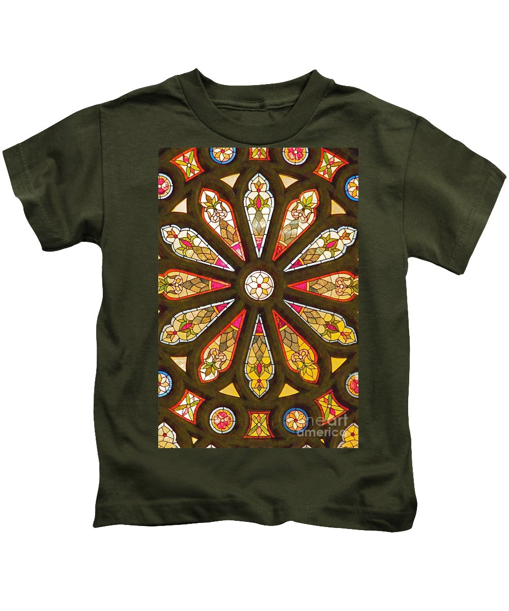 Stained Glass Kids T-Shirt featuring the photograph Stained Glass by Robert Pearson